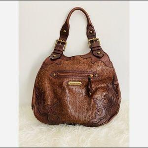 Isabella Fiore boho leather tote bag